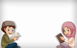 moslim jongen en meisje leesboek