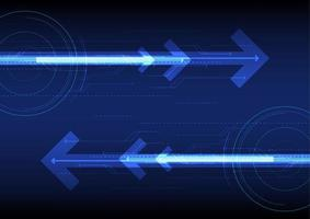 Blue futuristic abstract technology background with arrows  vector