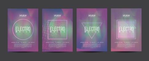 folheto de promoção elétrica vetor
