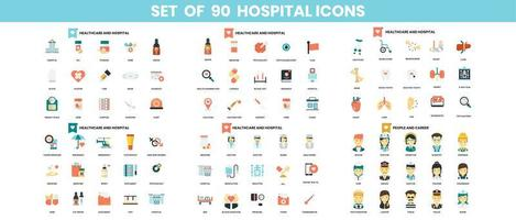 Hospital icons set for business  vector