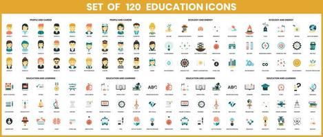 Education icons set for business vector