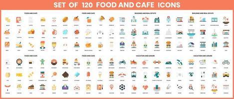 icônes de nourriture et de café définies pour les entreprises vecteur