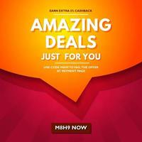 Amazing Deals Sale Background vector