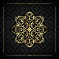 Gold border and mandala  vector