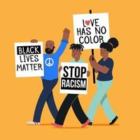 protesto contra o racismo vetor