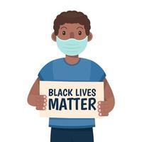man zwarte leven kwestie concept