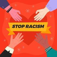 parar o conceito de mão de racismo