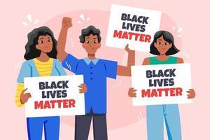 man en vrouw zwart leven kwestie concept