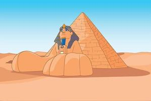 The Sphinx and pyramids Egypt