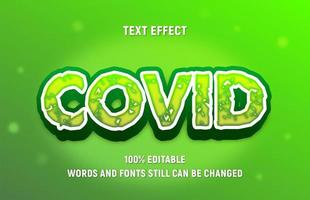 Editable Green COVID Block Text