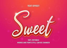 Editable Red Text Sweet vector