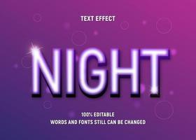 bearbeitbarer beleuchteter violetter Farbtext vektor