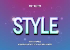 bearbeitbarer Text im leuchtend blauen Stil vektor