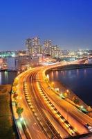 Minato mirai bridge in Yokohama, Japan photo