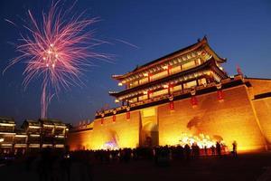 China's ancient city at night