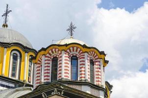 Detalles de la cúpula de la iglesia en rila, bulgaria, el sitio de la unesco