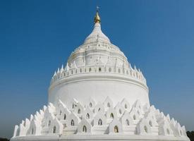 Mingun white pagoda in Myanmar photo