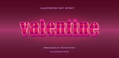 estilo de efecto de texto de San Valentín vector