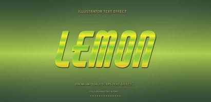 Lemon Green Yellow Text Effect vector