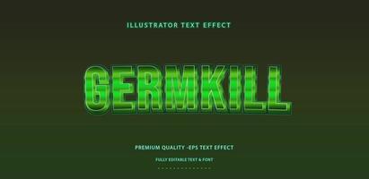 Germkill Text Effect  vector