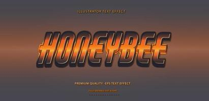 Honeybee Text Effect  vector