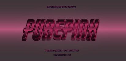 efecto de texto editable purepink vector