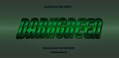 efecto de texto verde oscuro vector