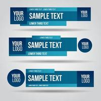 Contemporary set of banners vector