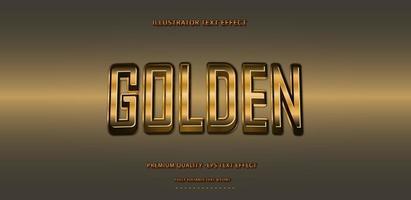 Golden Style Metallic Text Effect vector