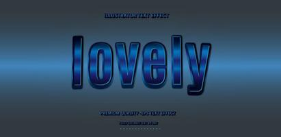 Lovely Blue Text Effect  vector