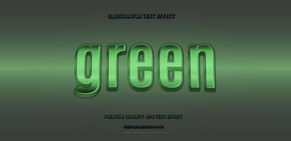 efecto de texto verde brillante vector