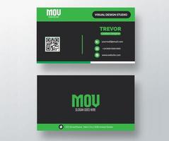 Modern Green and Black Business Card Template vector