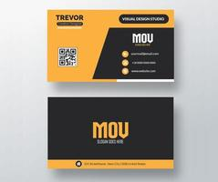 Bold Yellow and Black Business Card Template  vector