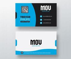 Modern Blue and Black Business Card Template vector