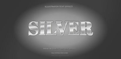 Shiny Silver Text Style  vector