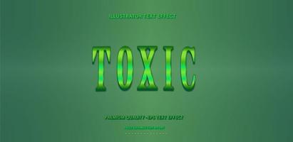 Toxic Green Editable Text Effect  vector