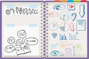 Notebook with doodles vector