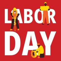 Labor day background in red
