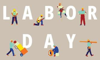 Labor day background vector