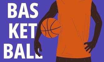 Basketball player with text vector