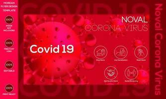 banner de prevención de coronavirus covid-19 vector