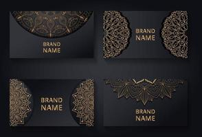 Business cards with mandala elements