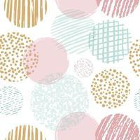 Abstract hand drawn geometric seamless pattern