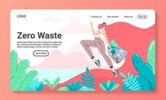 Zero waste landing page concept vector