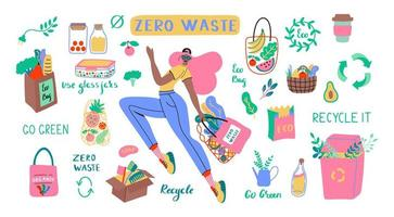 Collection of Zero Waste durable and reusable items