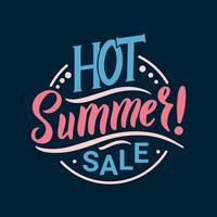 letras de venta de verano caliente vector