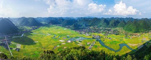 rice field valley Bac Son, Vietnam