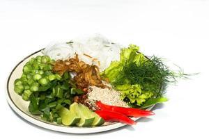 Ingredient Yum Noodle. photo