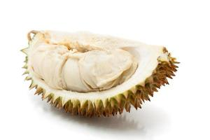 Asian tropical fruit known as Durian, over white background