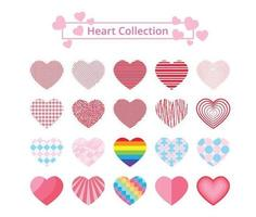 Colorful Patterned Hearts Collection vector